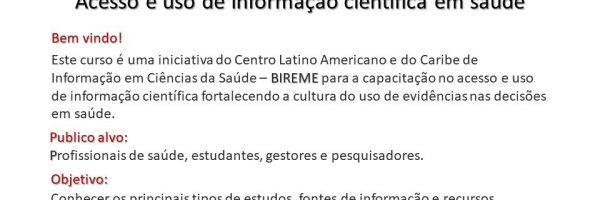 curso-online-Acesso-Uso-Informaca-Cientifica-Saude-BIREME